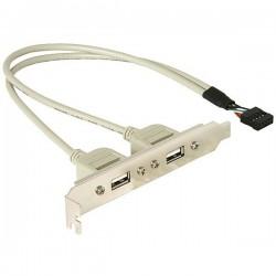 Slotblech - USB 2.0 2xPor