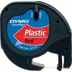 PLASTIC TAPE 12MMX4M BLACK/ROJ
