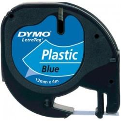 PLASTIC TAPE 12MMX4M BLACK/BLU
