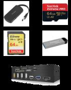 Clé USB, SD et HUB